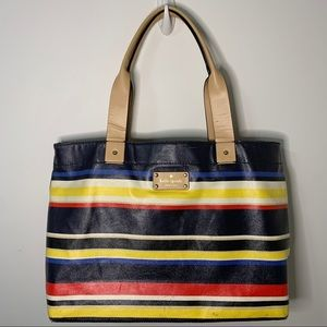 Kate Spade Westchester Forever Stripe Coated Tote